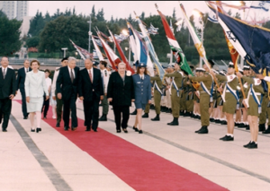 State welcoming ceremony at the Knesset Plaza - Ms. Jachin in Knesset guard uniform