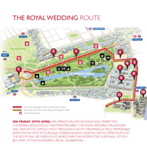 The official wedding route map