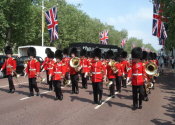 The Irish Guards during the procession (Photo by Nikoletta Hossó)